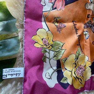 Salvatore Ferragamo silk scarf Made in Italy.
